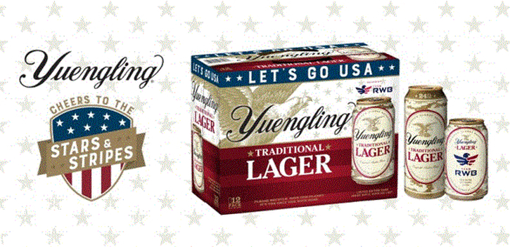 The Yuengling Stars & Stripes Camouflage Cans