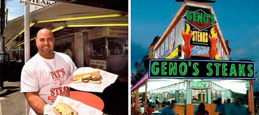Pat's vs. Geno's Philly's Cheesesteak Debate